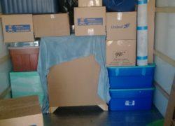 inside of moving truck