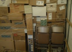 moving truck filled with boxes